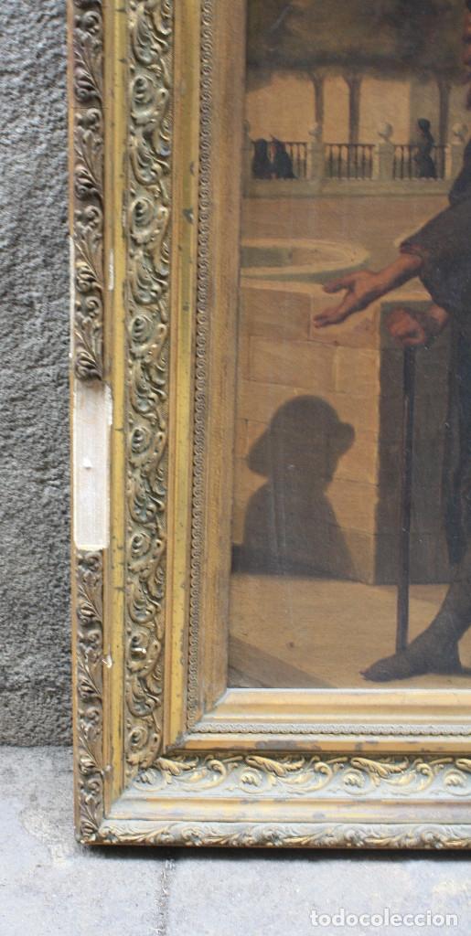Arte: Mendigo, pintura al óleo sobre tela, siglo XIX, sin firmar. 64,5x49,5cm - Foto 5 - 152146718