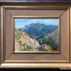 Arte: PAISAJE RURAL FIRMA F. GIMENO ( FRANCISCO GIMENO ARASA ) 45,5X26,5 CM. Lote 152136610