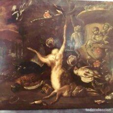 Arte: TALLER DE JAN WEENIX BODEGÓN DE CAZA CON PAISAJE, ESCUELA HOLANDESA DEL SIGLO XVII. Lote 151889356