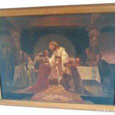 Arte: PINTOR J. BAIXAS - ESPECTACULAR ULTIMA CENA DE GRANDES DIMENSIONES. Lote 152191642