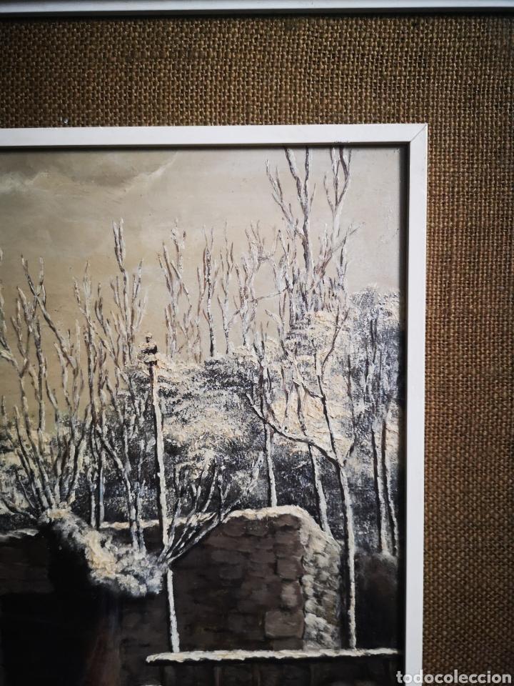 Arte: OLEO SOBRE TABLA, VISTA NEVADA, PAISAJE CON NIEVE, FIRMADO FONTESECA, MEDIDAS TOTALES 56X47cm - Foto 5 - 152211918