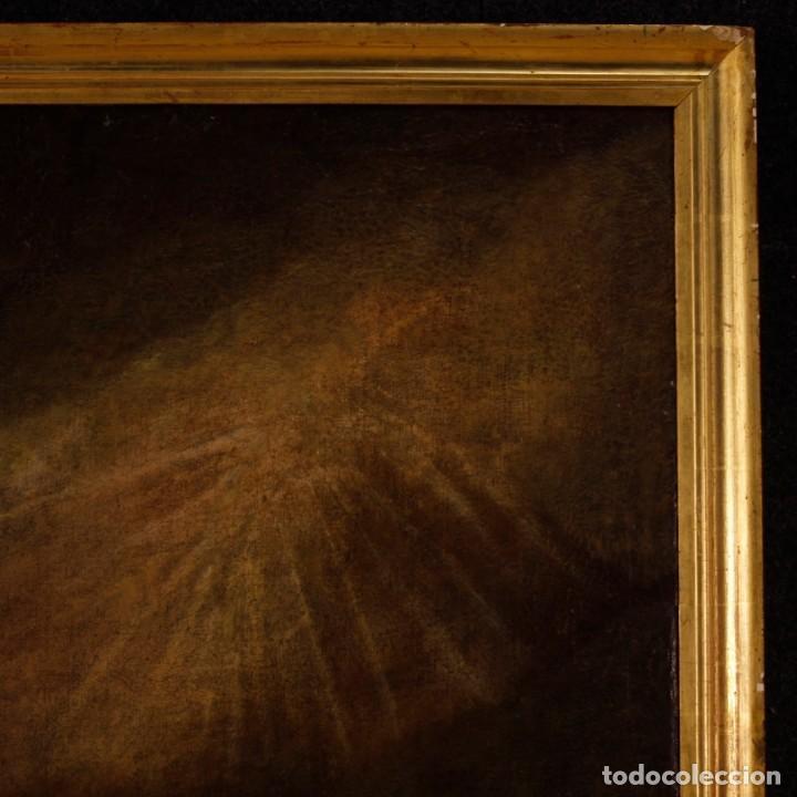 Arte: Pintura al óleo sobre lienzo con San Francisco del siglo XVII - Foto 3 - 152220886