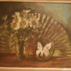 Arte: BODEGON ÓLEO SOBRE LIENZO DE ANTONIO GARCÍA SANZ. Lote 152230846