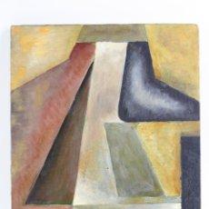 Arte: JOAN ERNEST VINARDELL (VILASSAR 1912-?) MOTIVO GEOMÉTRICO, PINTURA AL ÓLEO SOBRE MADERA. 40,5X31CM. Lote 152269190