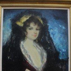 Arte: JOSÉ PUYET (MÁLAGA 1922 - MADRID 2004) ÓLEO SOBRE LIENZO. Lote 152284082