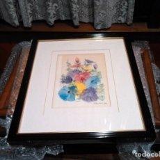 Arte: PINTURA CUADRO FLORES FIRMADO Y ENMARCADO /86. Lote 152364326