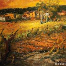 Arte: JUAN ESCODA COROMINAS (MORA DE EBRO, TARRAGONA, 1920 - 2012) OLEO SOBRE CARTON ENTELADO. PAISAJE. Lote 152426870