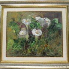 Arte: CALAS - ROSA MARIA - OLEO SOBRE LIENZO - 84X73 CM. Lote 152433256