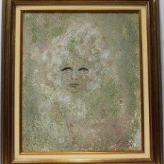 Arte: LA CARA - SIJO H - OLEO SOBRE TABLA - 70X62 CM. Lote 152433372
