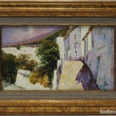Arte: CALLE BLANCA - LUCAS - OLEO SOBRE LIENZO - 46X32 CM. Lote 152433548