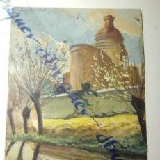 Arte: APUNTE DEL NATURAL, REC COMTAL A SU PASO POR LA IGLESIA DE SANT ANDREU , CARRERA , S.XX. Lote 152495498