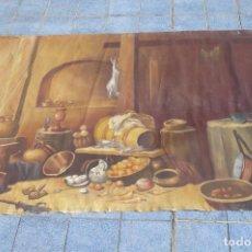 Arte: GRANDIOSA PINTURA TEMA BODEGON 3 METROS DE LARGO. Lote 152527018