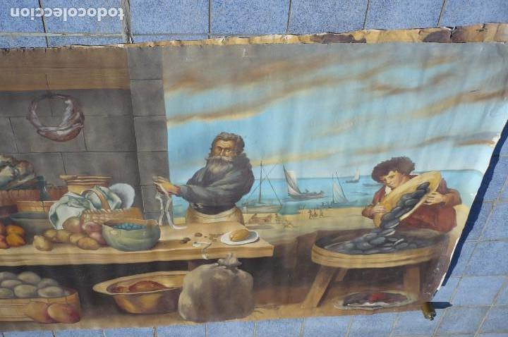 Arte: grandiosa pintura tema bodegon -marina de 3 metros de largo - Foto 2 - 152527306
