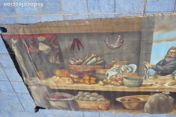 Arte: grandiosa pintura tema bodegon -marina de 3 metros de largo - Foto 3 - 152527306