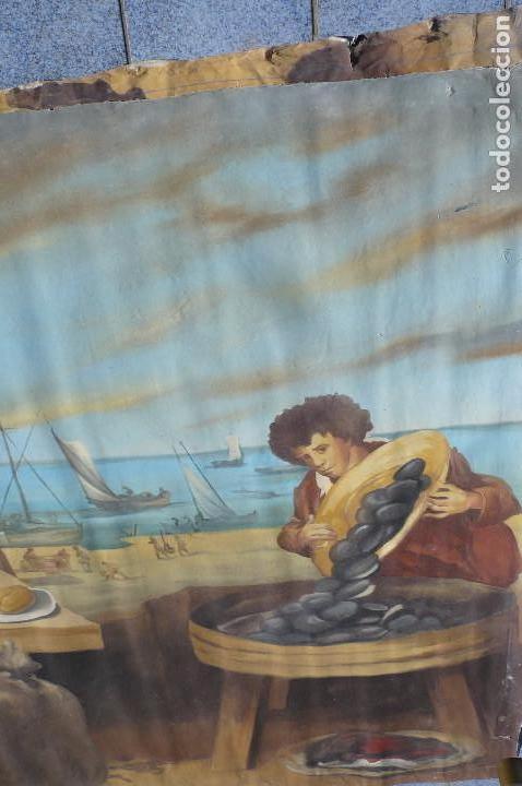 Arte: grandiosa pintura tema bodegon -marina de 3 metros de largo - Foto 4 - 152527306
