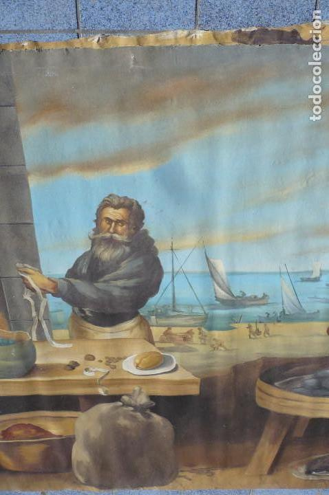 Arte: grandiosa pintura tema bodegon -marina de 3 metros de largo - Foto 5 - 152527306