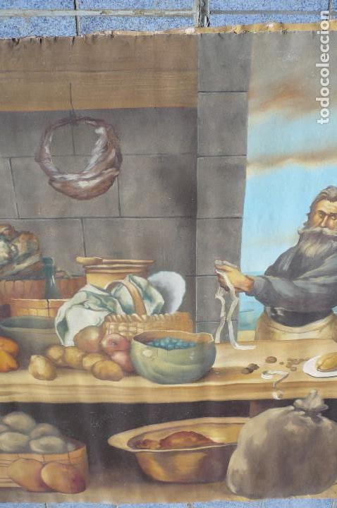 Arte: grandiosa pintura tema bodegon -marina de 3 metros de largo - Foto 6 - 152527306