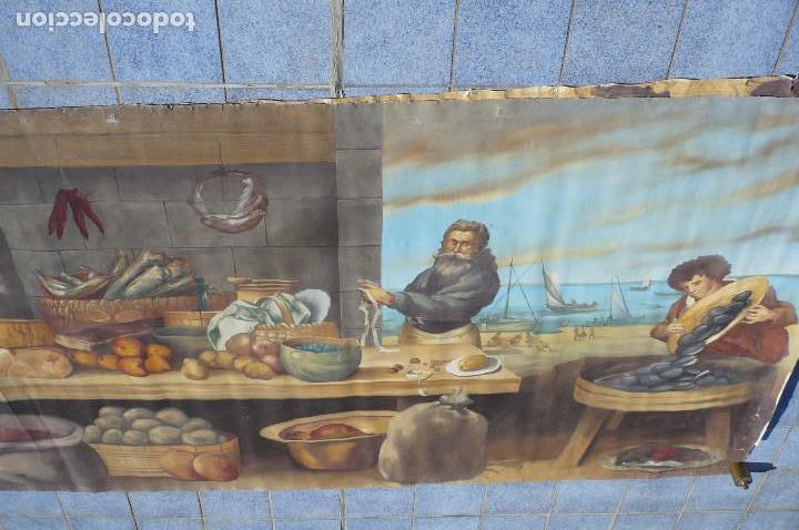GRANDIOSA PINTURA TEMA BODEGON -MARINA DE 3 METROS DE LARGO (Arte - Pintura - Pintura al Óleo Moderna sin fecha definida)