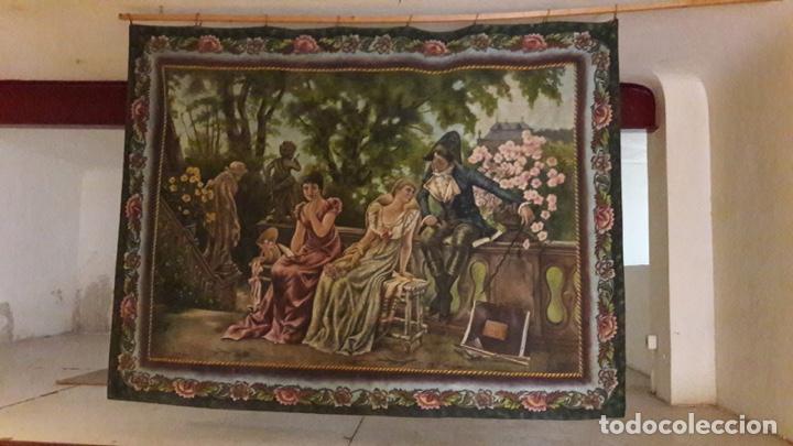 ANTIGUO CUADRO TAPIZ 155X205 FIRMADO ÁNGELES LUNA (Arte - Pintura - Pintura al Óleo Antigua sin fecha definida)