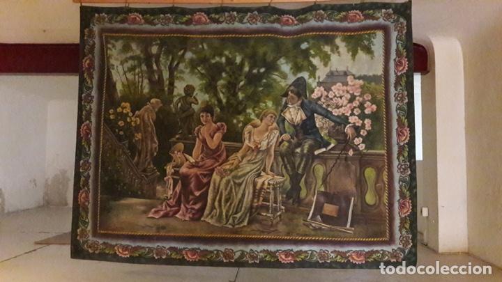 Arte: Antiguo cuadro Tapiz 155x205 firmado Ángeles Luna - Foto 2 - 152618434