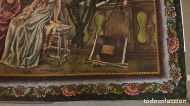 Arte: Antiguo cuadro Tapiz 155x205 firmado Ángeles Luna - Foto 3 - 152618434