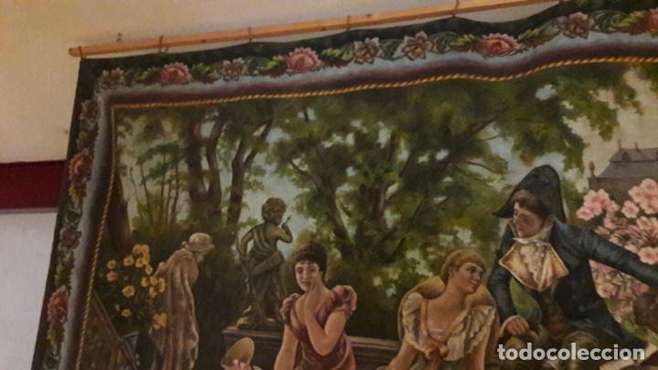Arte: Antiguo cuadro Tapiz 155x205 firmado Ángeles Luna - Foto 6 - 152618434