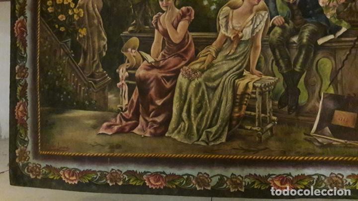 Arte: Antiguo cuadro Tapiz 155x205 firmado Ángeles Luna - Foto 7 - 152618434
