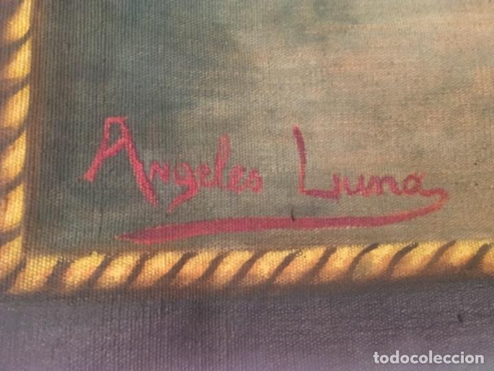 Arte: Antiguo cuadro Tapiz 155x205 firmado Ángeles Luna - Foto 10 - 152618434