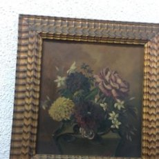 Kunst - Antiguo cuadro Flores 44x46 con marco 34x31 tablex - 152629102