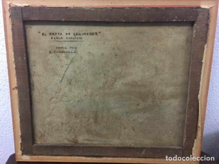 Arte: Antiguo cuadro Carratala 70x60 con marco lienzo 53x63 - Foto 5 - 152629434