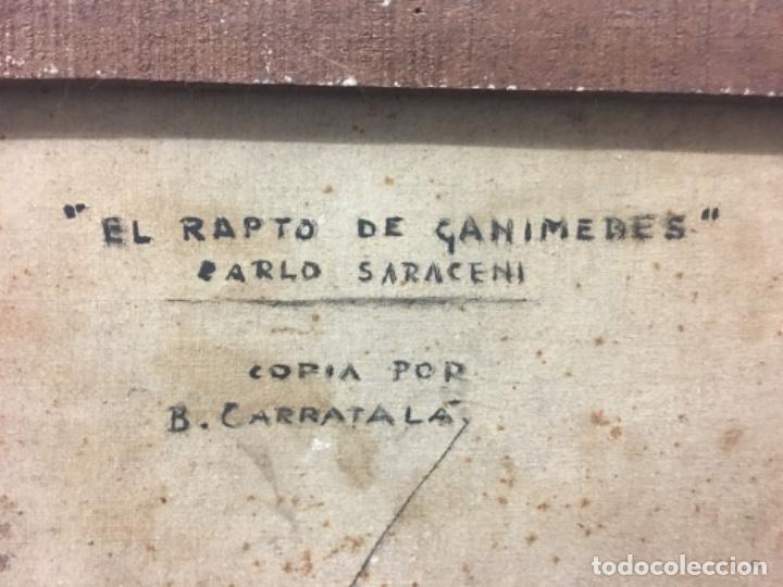 Arte: Antiguo cuadro Carratala 70x60 con marco lienzo 53x63 - Foto 6 - 152629434