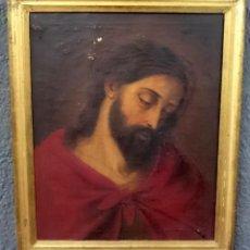 Arte: ANTIGUO ECCE HOMO, CRISTO, ÓLEO SOBRE LIENZO CON MARCO DORADO AL ORO FINO. SIGLO XVIII. 60X48. Lote 152635986