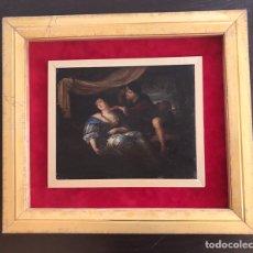 Kunst - Óleo sobre tabla ( Escena romántica ) - 131143257