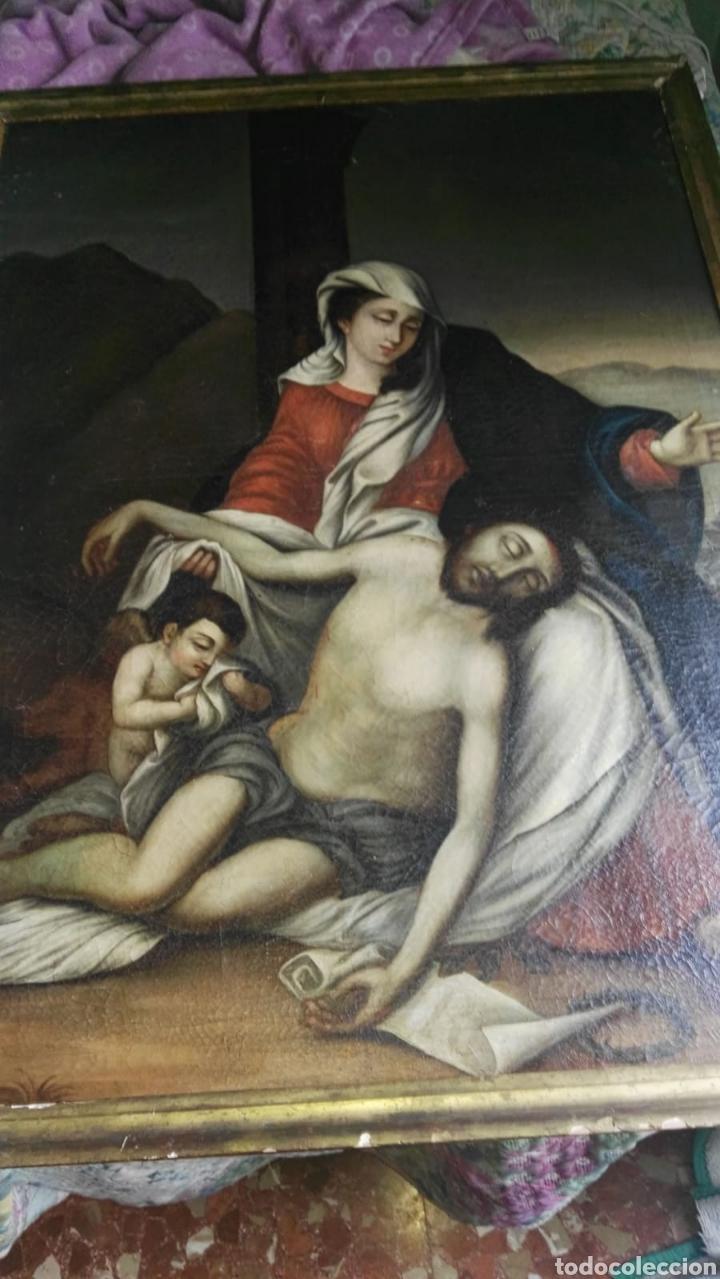 OLEO SOBRE LIENZO ANTIGUO SIGLO XVIII (Arte - Pintura - Pintura al Óleo Antigua siglo XVIII)