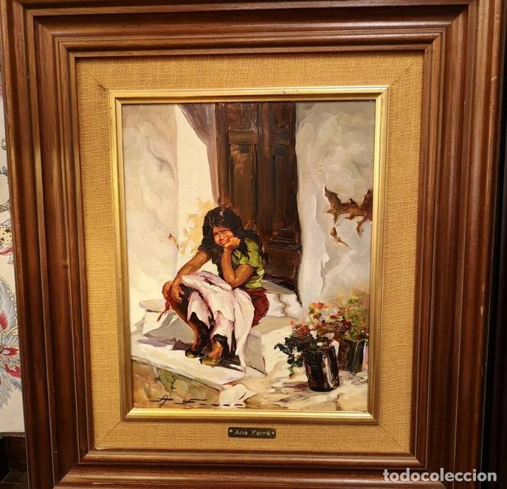 Arte: Óleo Gitanilla en el umbral de Ana Farré - Foto 5 - 152651714