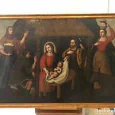 Arte: EXCEPCIONAL ADORACION DE LOS PASTORES, ESCUELA ANDALUZA, S. XVII, 175X120. Lote 152653678