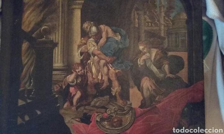 OLEO LIENZO (Arte - Pintura - Pintura al Óleo Antigua siglo XVIII)