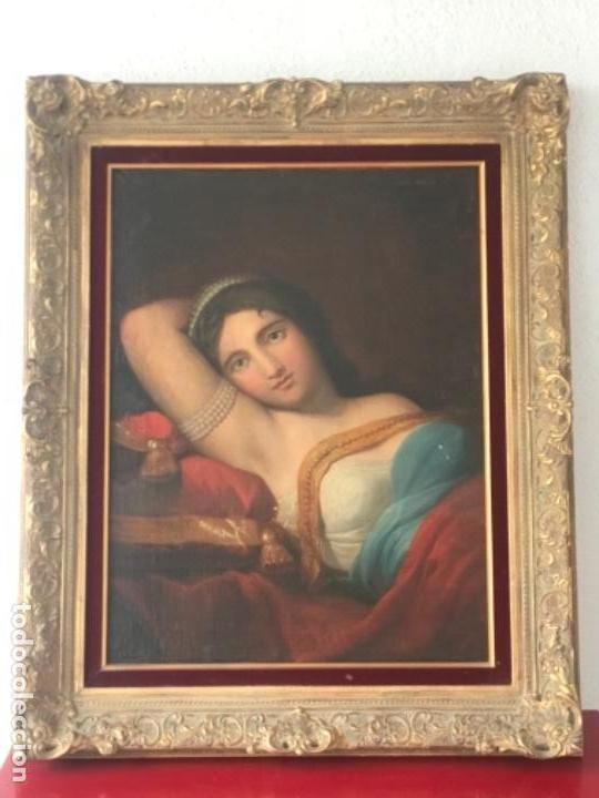 Arte: ESCUELA FRANCESA S.XVIII RETRATO BELLA DAMA, OLEO SOBRE TELA. VER FOTOS ANEXAS. - Foto 9 - 152762586