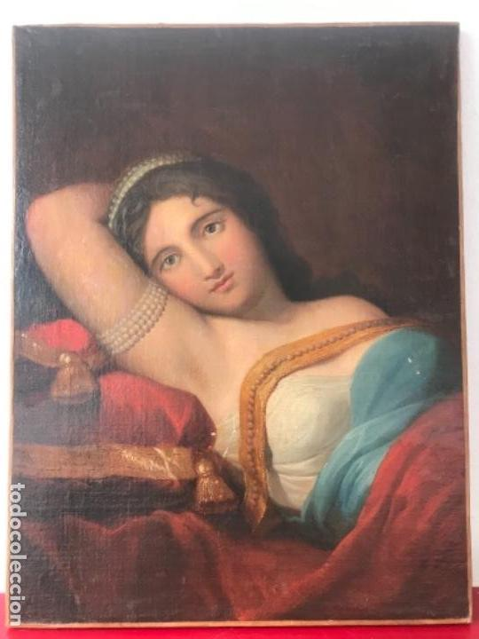ESCUELA FRANCESA S.XVIII RETRATO BELLA DAMA, OLEO SOBRE TELA. VER FOTOS ANEXAS. (Arte - Pintura - Pintura al Óleo Antigua siglo XVIII)