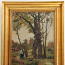 Arte: PINTURA AL ÓLEO DE MELCIOR DOMENGE I ANTIGA. AÑO: CERCA 1900. Lote 152896606