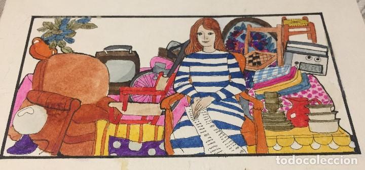 Arte: Boada, Pedro, ilustración original 1972 - Foto 2 - 123360131
