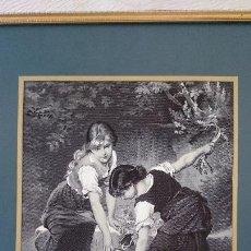 Arte: CUADRO ORIGINAL LA SEDA NATURAL, STEVENGRAPHS, E.MUNIER. Lote 152923022