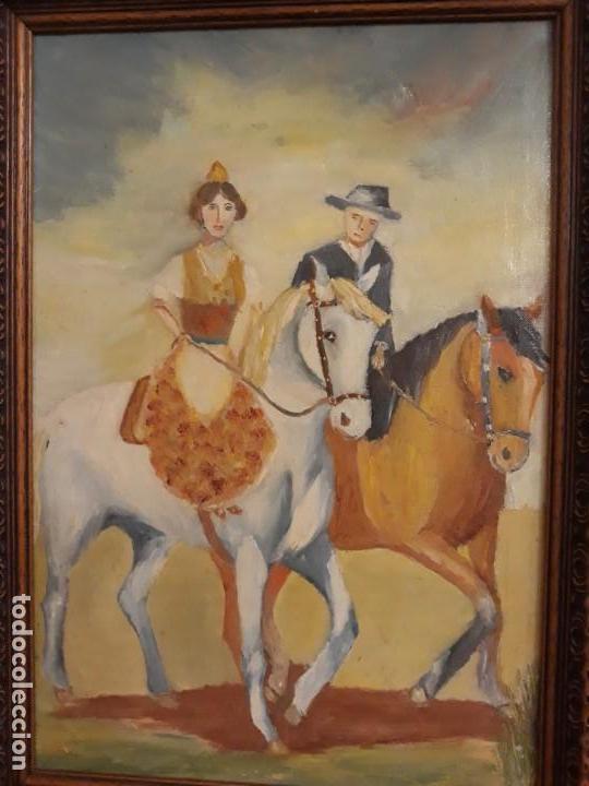 Arte: pintura al oleo preciosa y original con marco de madera robusto - Foto 2 - 152933150