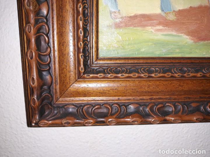 Arte: pintura al oleo preciosa y original con marco de madera robusto - Foto 3 - 152933150