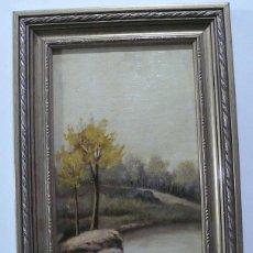Arte: CASAMAR, OLEO SOBRE TABLA PAISAJE, FIRMADO. Lote 153084722
