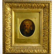 Arte: ÓLEO SOBRE TABLA PERSONAJE BÍBLICO SIGLO XVIII. Lote 153115606