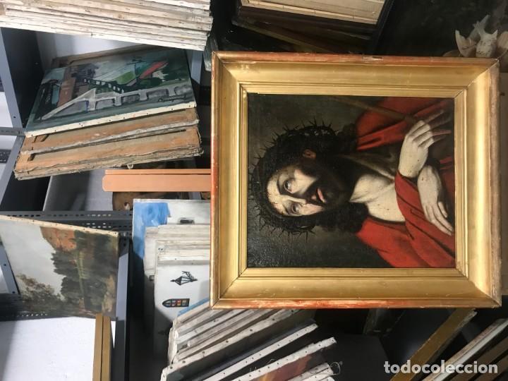 Arte: excepcional ecce homo italiano, s. xvii, circulo guido reni - Foto 2 - 153132622