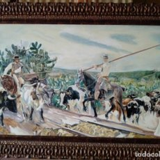 Arte: ANDALUCÍA. EL ENCIERRO. DE JOAQUÍN SOROLLA. COPIA DE FERNANDO NEGRO.. Lote 153198114