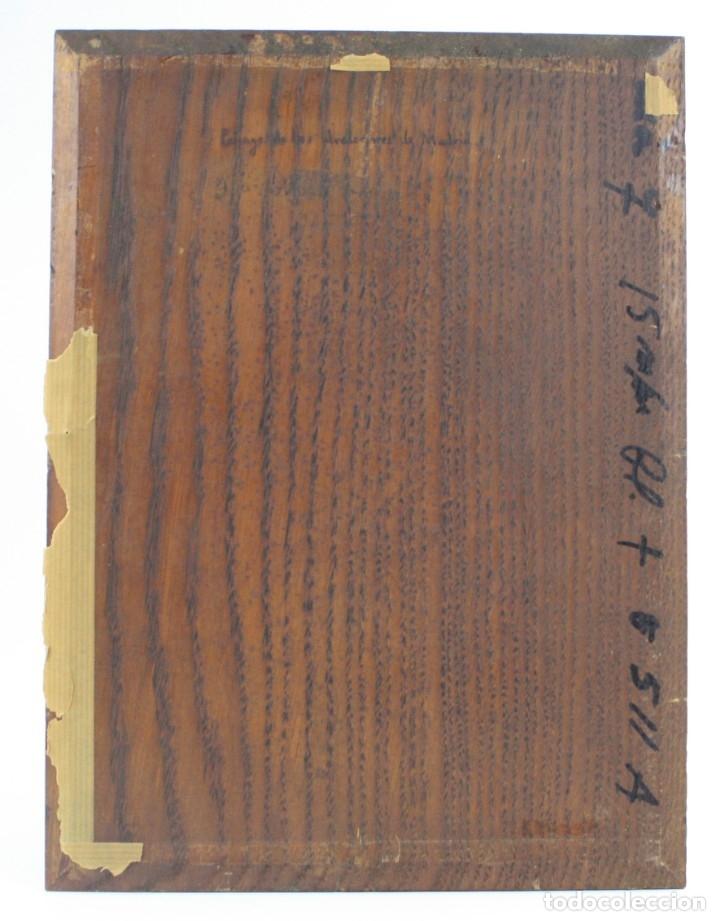 Arte: Paisaje, posiblemente los alrededores de Madrid, pintura al óleo sobre madera, firma ilegible. - Foto 4 - 153199226