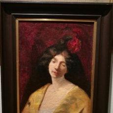 Arte: RETRATO DE MUCHACHA POR JOAN BRULL (1863-1912). Lote 153236605